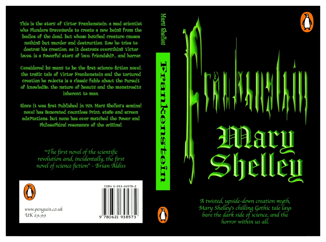 Frankenstein - Book Cover (modified)